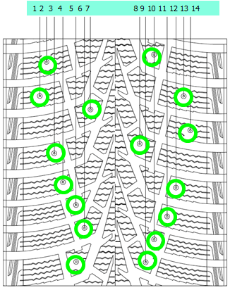 Оптимизированное расположение шипов Maxxis ArcticTrekker NP3