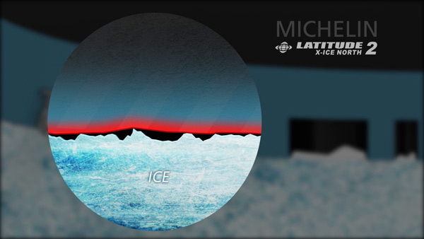 Работа резиновой смеси в шине Michelin Latitude X-Ice North 2