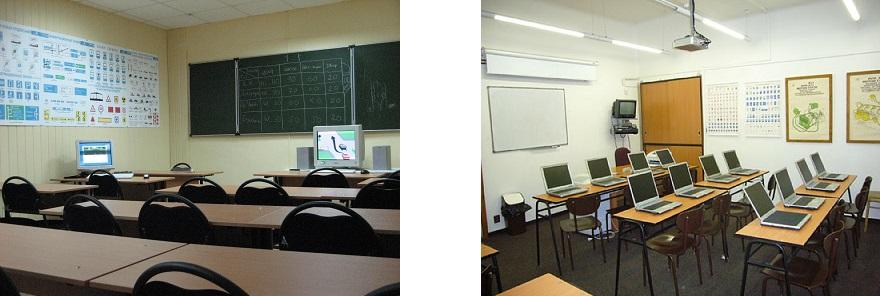 Отсутствие в классах учебных пособий, плакатов, светофоров и т.д. должно Вас насторожить. Обратите внимание на оснащение – есть ли компьютеры, автотренажеры.