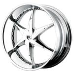 PCD болтов диска 5x130 мм Hipnotic Wheels Roxstar 8.5x20/5x130 D73.1 ET35 Chrome