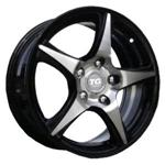 PCD болтов диска 5x100 TGRACING TGD006 6x15/5x100 ET38 Black